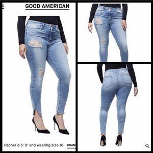 Good American Good Waist distressed skinny's A47
